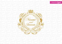 luxury wedding monogram -wedding logo-wedding crest-custom wedding monogram-signo-monograma-monograma de la boda-signo de la boda-