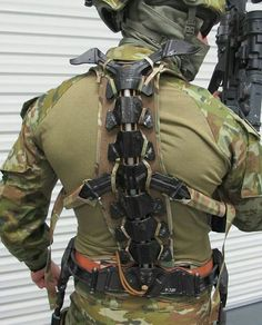 Australian army is testing exoskeleton, if you are a true gamer you probably notice that exoskeletons appeared in Call Of duty advanced warfare. Maybe this is the future of military. Military Armor, Military Gear, Military Equipment, Powered Exoskeleton, Tactical Armor, Futuristic Armour, Sci Fi Armor, Combat Gear, Tactical Equipment