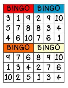32 Trendy Group Games For Preschoolers Math Multiplication Chart Printable, Multiplication Facts Practice, Math Bingo, Numbers Preschool, Preschool Games, Number Activities, Math Games, Bingo Cards, Group Games