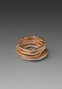 Rose Gold Stacked. Stacked rings are so in and I love them! I wear them all on different fingers and mix and match...
