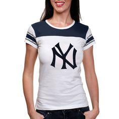 New York Yankees Ladies Ridgemont Premium T-Shirt - White