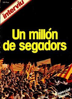 """Portada de la revista """"Interviu"""" dedicada a la Diada de l'Onze de Setembre de 1977 (un milió de manifestants a Barcelona - Catalonia)"""