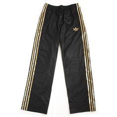 adidas Originals SY FOIL FIREBIRD TRACK PANTS BLACK/GOLD