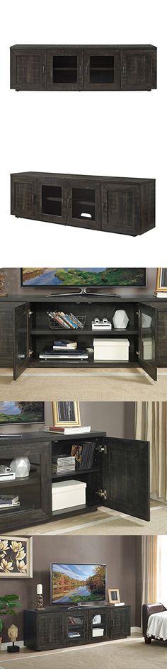 """Whalen Furniture Whalen 72"""" TV Console in Weathered Dark Pine"""
