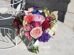 Buchet colorat cu bujori Floral Wreath, Wreaths, Home Decor, Horsehair, Decoration Home, Room Decor, Bouquet, Flower Band, Interior Decorating