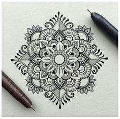 Mandala mehendi mandala art more mandala tattoo Mandalas Painting, Mandalas Drawing, Design Lotus, Zentangle Patterns, Zentangles, Mandala Pattern, All Art, Art Sketches, Tattoo Sketches