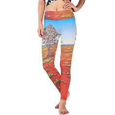 CCBHGY Womens Red Land Yoga Sport Pants Leggings ** See this great product.(This is an Amazon affiliate link and I receive a commission for the sales)