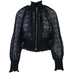 Stella Mccartney Naomi Lace Jacket (1,570 CAD) ❤ liked on Polyvore featuring outerwear, jackets, blue, stella mccartney, lace jacket, blue lace jacket, stella mccartney jacket and blue jackets