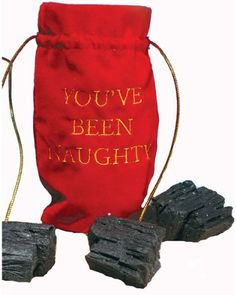 Merry Christmas Gold and Red Novelty Gift Bag with Three Lumps of Black Coal Christmas Coal, Naughty Christmas, Merry Christmas, Dollar Tree Store, Novelty Gifts, Halloween Costumes For Kids, Costume Accessories, Gift Baskets, Christmas Decorations