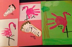 Hand and Foot print animals!
