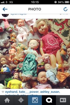 COLLECTIONS: Dolls/Toy! Inspiration for faces and print ideas.