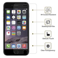 Features of our iPhone 6 screen protector, now selling on Amazon: http://www.amazon.com/Protector-Xuralux-Premium-Tempered-Shatter/dp/B00RM4BMT0