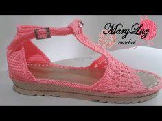 SANDALIA MODELO QRUBA - YouTube Crochet Sandals, Crochet Shoes, Crochet Slippers, Knit Crochet, Crochet Flower Tutorial, Crochet Flowers, Make Your Own Shoes, Crochet Mobile, Knit Shoes
