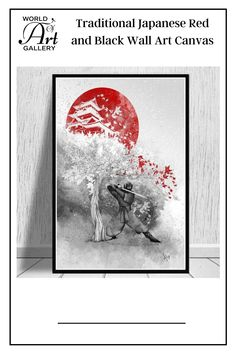 Hanging this Traditional Japanese Red and Black Wall Art Canvas will increase your sense of fun and vitality. Whether you decide to hang it in the living room, bedroom, kids' room, kitchen, lobbies, waiting rooms, lounges, dining rooms, office, hallway, bars, or beauty salon it will add more fun. We print the canvas wall art using top-quality ink, waterproof, and fade-resistant inks to ensure vibrant, long-lasting colors that remain vibrant even after decades of exposure to strong light.