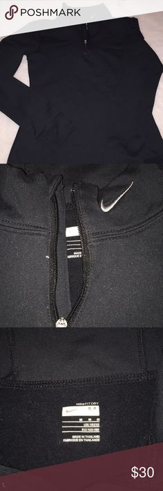 9b94f8dcfb94 Kids Nike fit dry pullover size medium Like new Nike neck zip up pullover  Nike Shirts