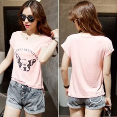 New Lady Womens Fashion Short Sleeve O-Neck Casual Loose Letter Print Graphic Tees T-Shirt