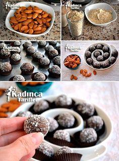Muzlu Badem Kurabiyesi Tarifi Diabetic Deserts, Healthy Desserts, Almond Meal Cookies, Good Food, Yummy Food, Dessert Salads, Healthy Gluten Free Recipes, Biscuit Cookies, Time To Eat