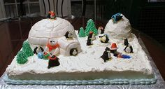 Cake idea for penguin party