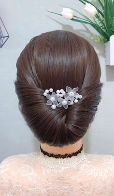 Hairdo For Long Hair, Bun Hairstyles For Long Hair, Model Hairstyles, Braided Bun Hairstyles, Beautiful Hairstyles, Headband Hairstyles, Girl Hairstyles, Front Hair Styles, Medium Hair Styles