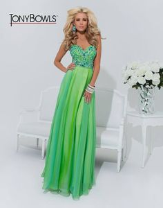 Green and Blue Prom Dress