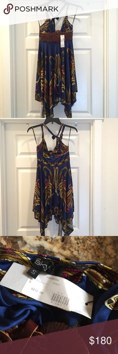 Sky paisley belted dress size small % eBay seller ✔️feedbacks @ http://ebay.to/29sr08u                                                       10% off bundle deals + 3 items                                                                No trades or low ball offers                        NWT purchased at urban minx boutique pristine condition.  100% silk dry clean only. Sky Dresses Mini