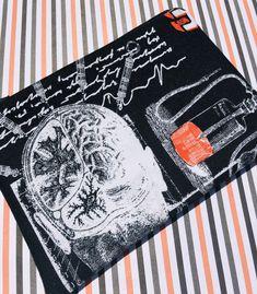 Brain Surgery Zipper Pouch: Lobotomy, Halloween, Medical Device.