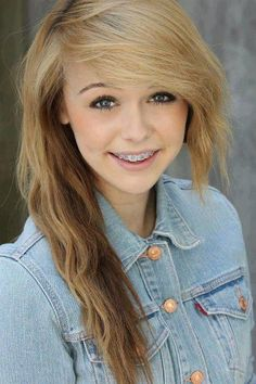 Her hair with braces