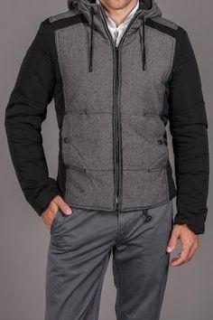 Antony Morato Mixed Media Hooded Jacket