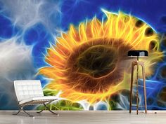 Foto #Tapete Der Sonne entgegen Wind Turbine, Flowers, Photos, Self Adhesive Wallpaper, Sunflowers, Photo Wallpaper, Wall Papers, Nice Asses, Florals