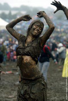 Glastonbury Festival Mud - my name is mud!!!
