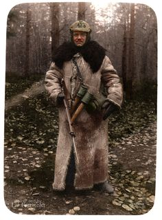 A well armed Saxon sentry from Landwehr Infanterie Regiment 133 somewhere on the Eastern Front.