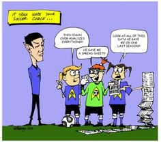 A cartoon highlighting just how over analytical soccer coaches can be!