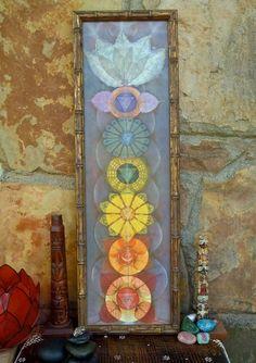 CHAKRAS painting yoga art reiki energy YOGA PAINTING spiritual painting framed painting prana art prints via Etsy.