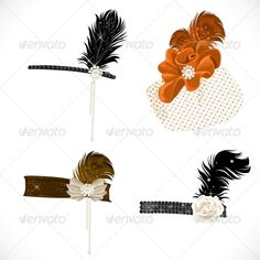 Headbands and Hat with Feathers
