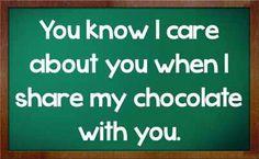 I share, I care.