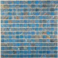 "Creative Decore  Gem Series, 3/4"" x 3/4"", Lapis Lazuli, Glossy, Blue, Glass"