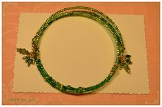 Fun Simple Green Crystal Memory Wire Bracelet by crafts4thecure