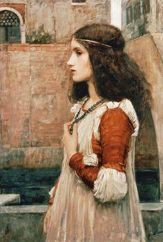 Juliet, 1898 by John William Waterhouse ✿⊱╮                                                                                                                                                      More