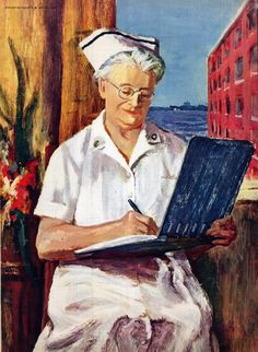 Nurse. Everywoman's magazine. April 1955