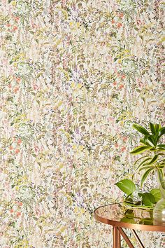 In Love with Liberty London Charlotte Wallpaper Botanical Wallpaper, Unique Wallpaper, Wallpaper Panels, New Wallpaper, Wallpaper Ideas, Charlotte Wallpaper, Happy Room, Mural Art, Murals