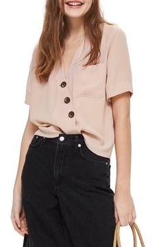 Main Image - Topshop Ashley Asymmetrical Blouse