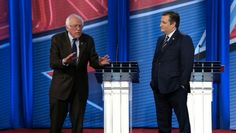 Senators Ted Cruz and Bernie Sanders squared off over a Koch brothers-backed effort to cut taxes for the wealthiest Americans