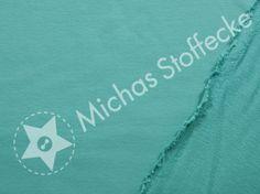 Michas Stoffecke - Stretch-Sweat Maike hellpetrol T-SA-Maike000263