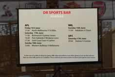 Let's watch this week #AFL #NRL and #UFC at DR Sports Bar... www.diningroomcandidasa.com  #sportsbar #sports #fans #traveler