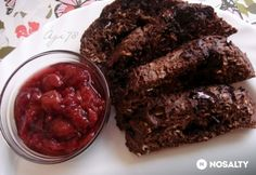Csokoládés-zabpelyhes süti mikróban Meatloaf, Microwave, Food And Drink, Beef, Cookies, Chocolate, Desserts, Meat, Crack Crackers