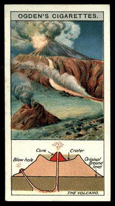 Cigarette Card - The Volcano by cigcardpix, via Flickr