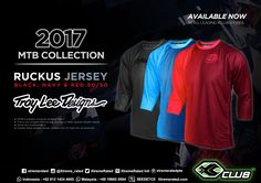 Troy Lee Designs 2017 MTB Collection Ruckus Jersey Black, Navy & Red 50/50 Available Now in all XCLUB leading stores #xtremerated #xclub #troyleedesigns #jersey #mtb
