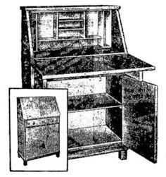 """ANOS DOURADOS: IMAGENS & FATOS: IMAGENS = MOBILIÁRIO ANTIGO -Escrivaninha (de 1957) que, na época, era chamada de """"bureau"""" (""""birô""""):"""
