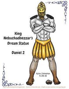 Resultado de imagem para estatua de nabucodonosor 3d de parte em parte