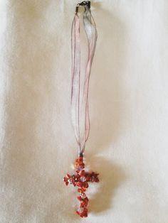 Hermoso+un+único+alambre+perla+Cruz+collar+de+por+UnhookTheStars